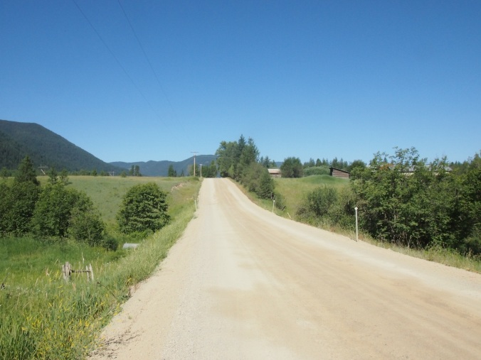 Montana's unofficial welcome: an end to the paved road.